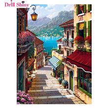iamond Painting Cross Stitch Pattern 5D Diamond Embroidery London stree Diamond Mosaic Home Decor DIY diamond art(China)