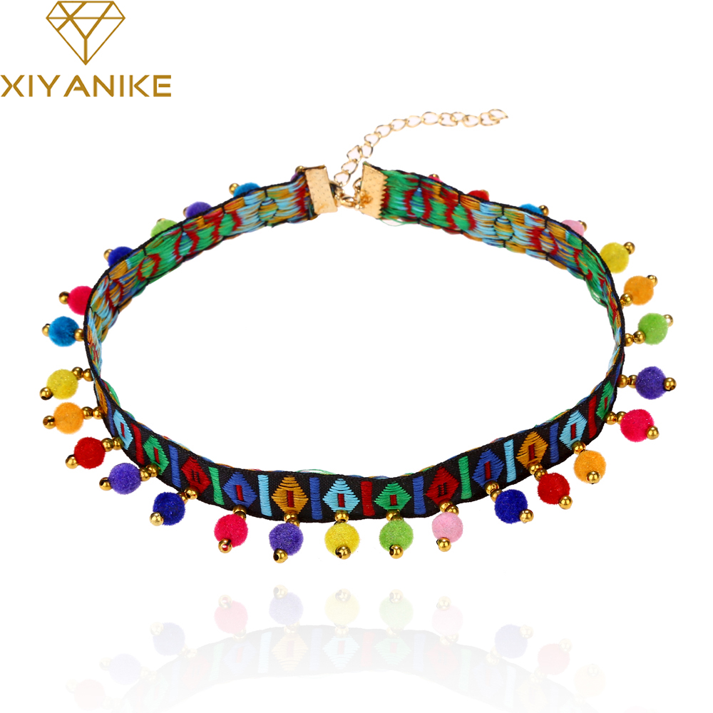 XIYANIKE 2017 Hot Sale Fashion Bohemian Style Collar Necklace Choker Jewelry For Women Best Gift Necklaces & Pendants XY-N114