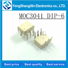 10pcs/lot MOC3041 DIP-6 MOC3041M OPTOISOLATORS TRIAC DRIVERS