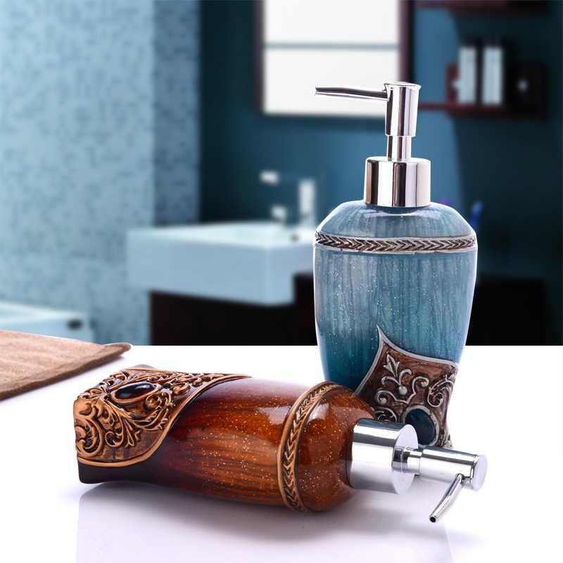 Łazienka zestaw sztuka uchwyt kreatywny butelka z płynem do dezynfekcji rąk żywicy pasta do zębów dozownik mydło box zestaw kosmetyków biedronka akcesoria