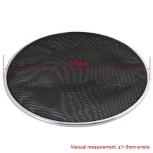Yibuy 52CM Diameter Black Double Ply Mesh Silent Drum Head Drum Skins Percussion Accessories for 20Inch Drum Kit Set