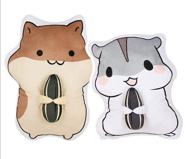 50 cm cartoon hamster puppe plüsch spielzeug hamster essen melone
