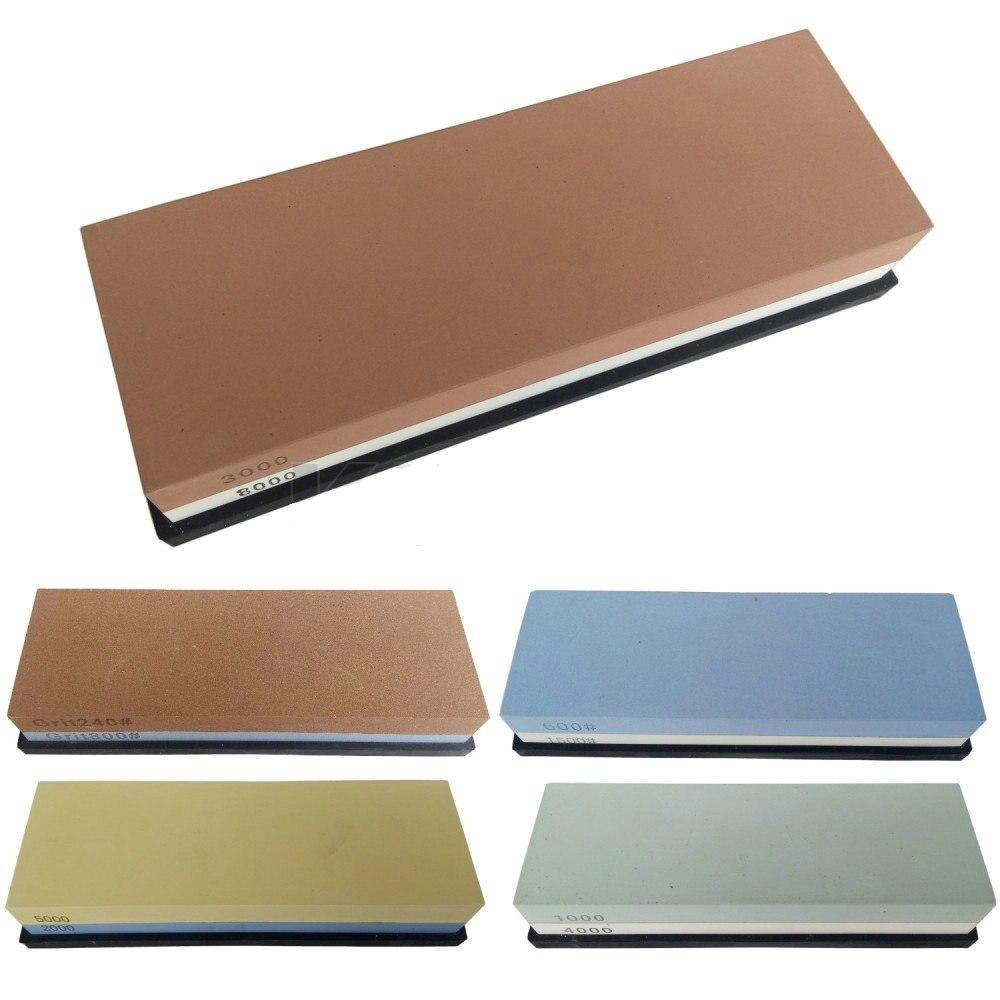 1PCS Kitchen Knife Sharpener Water Honing Stone Sharpening System Stone Corundum Whetstone 240 8000 Free Shipping