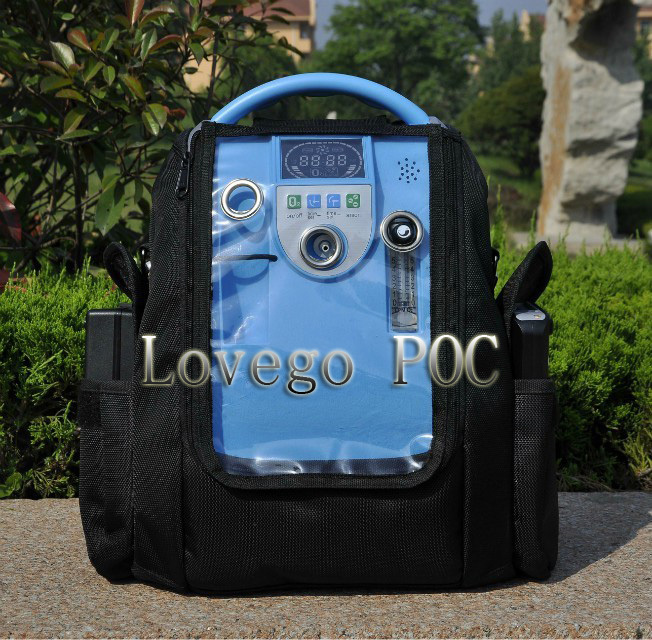 Lovego newest medical portable oxygen concentrator matched with two batteries for COPD цена