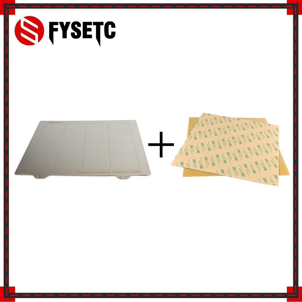 Plataforma de cama térmica de hoja de acero de resorte para impresora 3D, placa de impresión integrada + 2 hojas PEI para Ender-3 TEVO Tornado Lulzbot