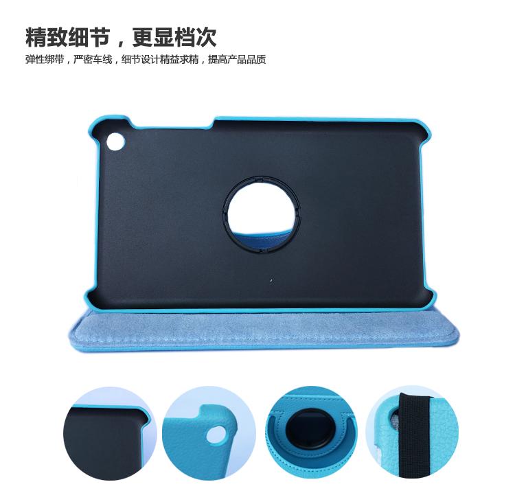 для компания Huawei MediaPad на Т1 7.0 Т1-701 Т1-701u Т1-701w Т1-701ua 360 вращающийся/кастер искусственная кожа случая стойки кожи + протектор экрана + стилус