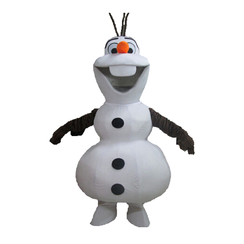 9f20ffd6a3 2017 hot cosplay Smiling Olaf Mascot Costume Cartoon Character Costume  birthday present forsnow definition Unisex worsted mascot-in Men s Costumes  from ...