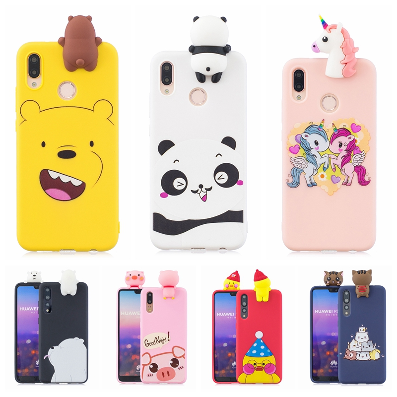 check-out 3a903 cc4f3 US $2.97 31% OFF|Etui Huawei P20 Lite Case Cover on Huawei P20 Pro 3D Bear  Panda Unicorn Silicone Case for Funda Huawei P20 Lite Case Telefon tok-in  ...