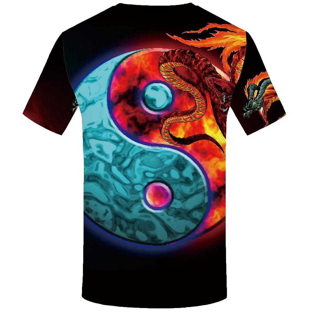 KYKU Water T Shirt Men Black Anime Tshirt Yin Yang Flame 3d T shirt Gothic Funny T Shirts Hip Hop Mens Clothing New Summer Tops in T Shirts from Men 39 s Clothing