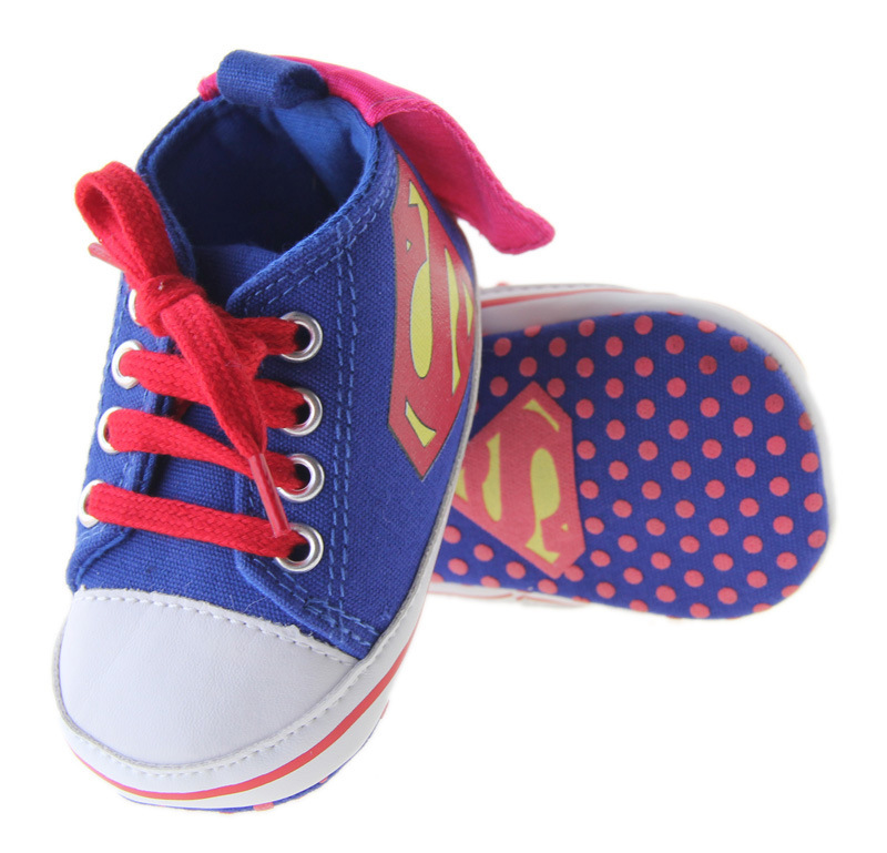 First Walkers Mother & Kids Newborn Baby Boy Shoe Kids Handsome Superman Sports Shoe Soft Soft Cotten Sole Infant Toddler Fashion Cool First Walkers Sneaker