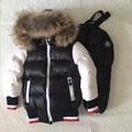 16 marca de Moda de 90% de pato branco para baixo casaco para as meninas roupa do bebê conjuntos meninos snowsuit qualidade luxo como outwear livre grátis
