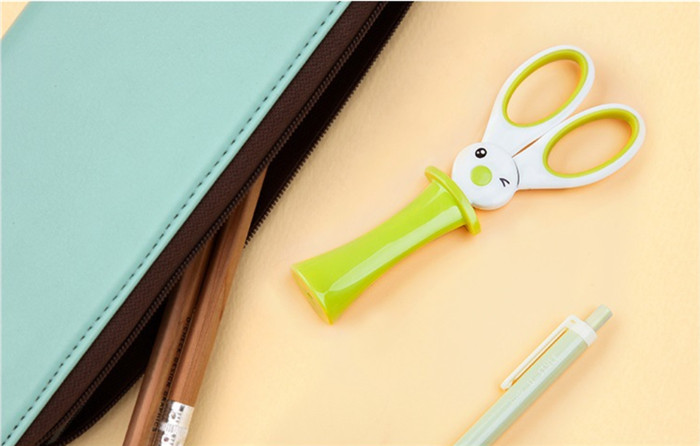 200pcs Magic Rabbit Children Scissors Multipurpose Office Scissors Stainless Steel Scissors Student DIY Paper Cutting Knife