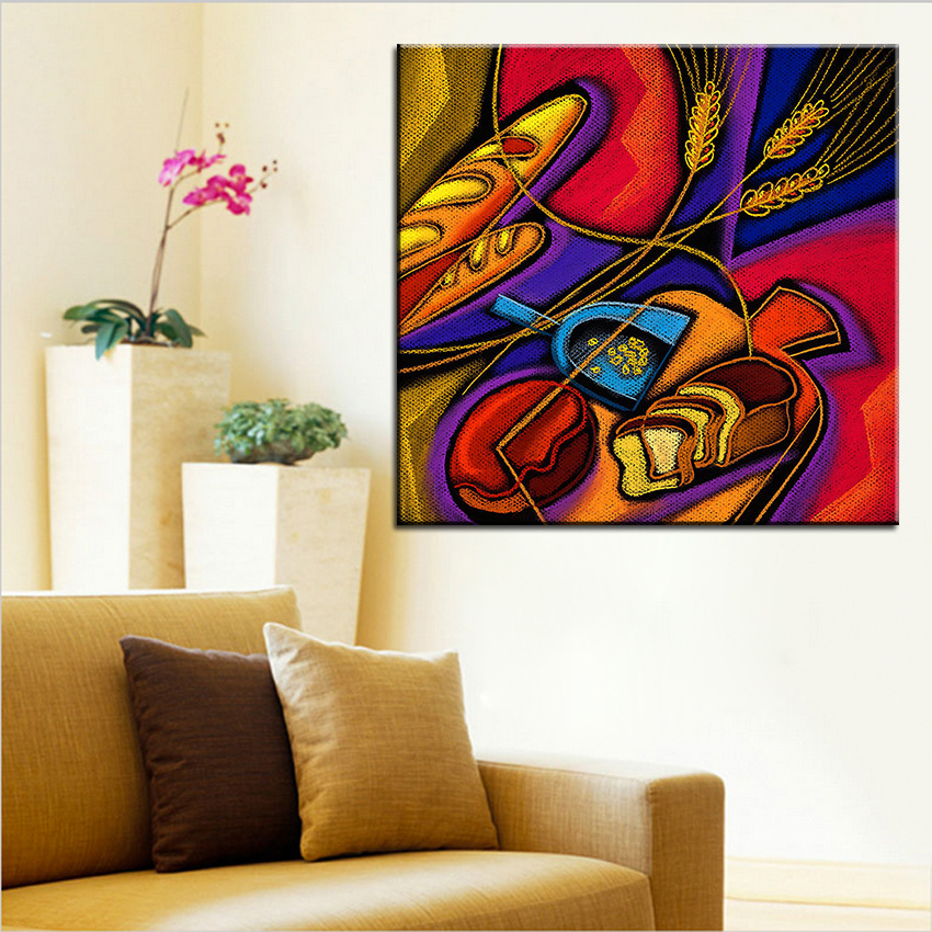 Home Goods Wall Decor: Large Size Printing Oil Painting Baked Goods Wall Painting