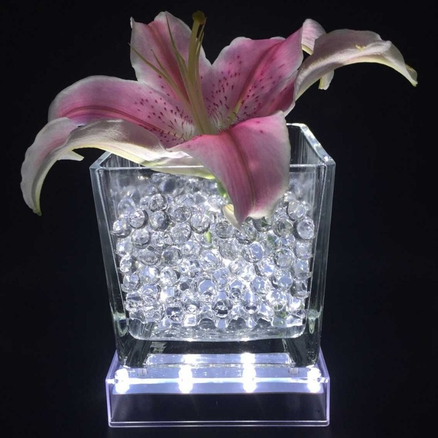 4 Pcslot 5 Inch Square Shape Led Battery Powered Pedestal Vase