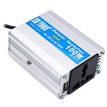 XUYUAN Power Inverter Tiny Computer Converter DC 12V 100W Electronic USB Port Modified Sine Wave Aluminum Alloy Case Universal