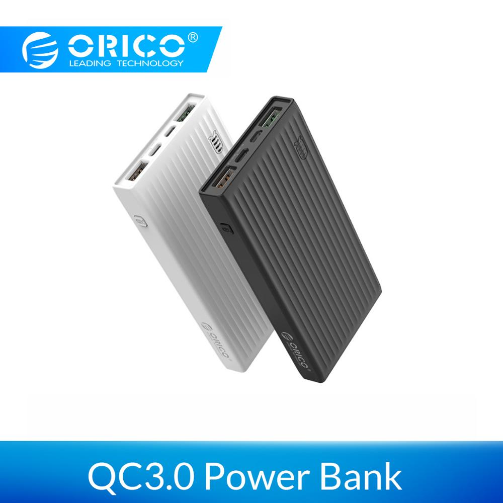 ORICO 10000mAh Universal Power Bank QC3.0 Quick Charge Dual-way Powerbank External Phone Backup Battery Charge For iPhone HuaweiORICO 10000mAh Universal Power Bank QC3.0 Quick Charge Dual-way Powerbank External Phone Backup Battery Charge For iPhone Huawei