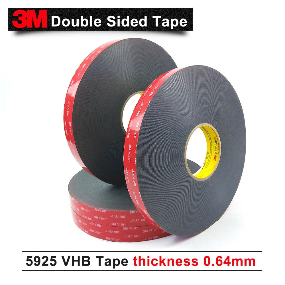 3M VHB 5925 штампованная Лента до 10 мм ширина/черный цвет/0,64 мм толщина акриловая поролоновая лента очень высокая склеивание 5925 3 м клейкая лента