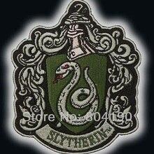 """Гарри Поттер """"Salazar Slytherin"""" герб эмблема вышитая Железная на патч Рок Ретро аппликация Прямая поставка"""