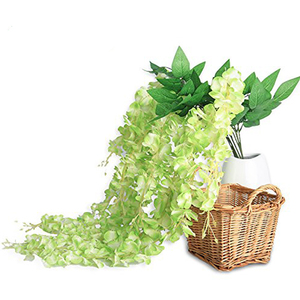 Image 3 - Luyue 12pcs Artificial Wisteria Flowers Vines 97cm Wedding Decor Flower Garland Silk Decorative Flowers Home Fake Flower Vine