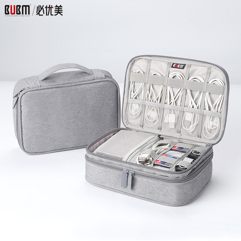BUBM Bag For Electronic Accessories Bag Case Storage Organizer For Digital Receiving Bag Carry Case For Flash USB Data Wire