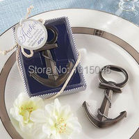 FREESHIPPING 1X Antique Anchor Shape Opener Beer Bottle Opener With Gift Box Wedding Favor Wedding Gifts