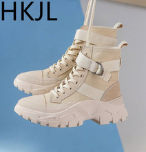 HKJL Boots women Martin boots female autumn and winter 2019 new short thick bottom Shoes woman Women\x27s shoes Z056