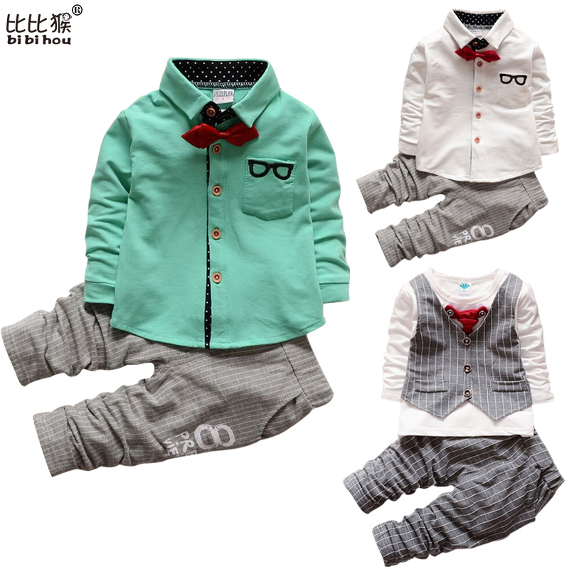 2017 Boys gentleman suit bebe Clothes Set Kids top Hoodies Spring Autumn birthday christmas gift Children toddlers Clothes Suits 2015 new arrive super league christmas outfit pajamas for boys kids children suit st 004