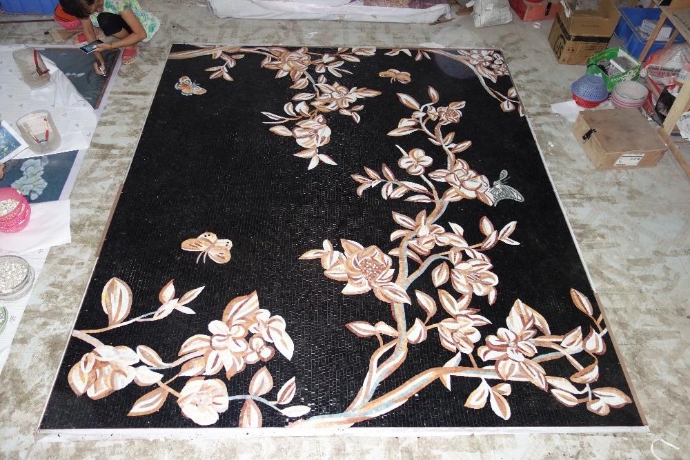 mural de parede completo de obras de arte em mosaico de vidro feito - Decoração de casa - Foto 3