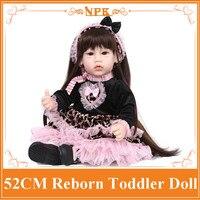 Benzersiz Tasarım 52 cm 20 '' Reborn Yürümeye Başlayan Bebekler Reborn Bebek Doll İyi fiyat Bebes Reborn Menina Çocuklar Için Oyuncak Olarak Noel Gün