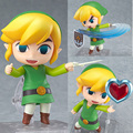 2016 The Legend of Zelda Jogo Legend of Zelda Link Nendoroid PVC Action Figure 10 CM Q Ver. Zelda Link Coleção Modelo Toy Boneca
