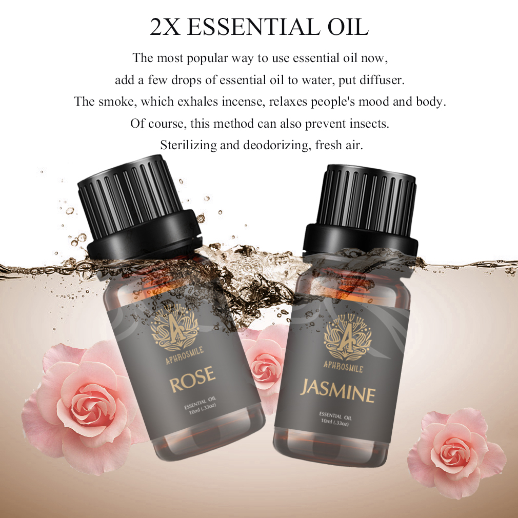 A APHROSMILE Essential Oil Set Lemon Eucalyptus Pure Plant Fragrance Oil Help Boosts The Spirit 10ml/Glass Bottle