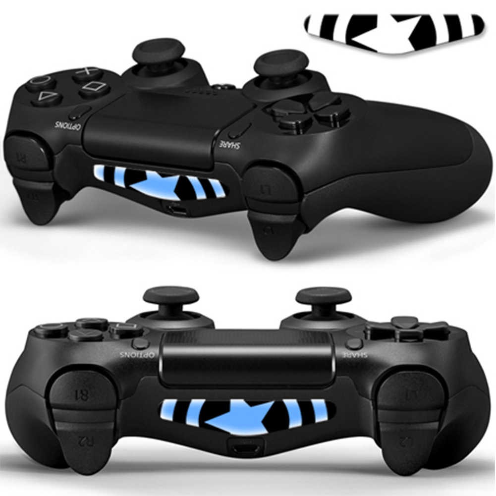 2020 Newest For Playstation 4 LED Light Bar Sticker Decal PS4 Controller Fashion Stickers Gamepad Cover PS4 Controller Skin