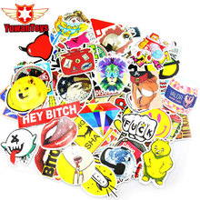 100Pcs DIY Backpack Funny Laptop Car Sticker For Trunk Skateboard Guitar Gridge Decal Random Mixed Toy