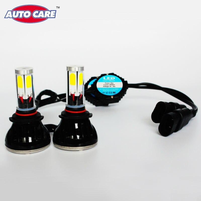 ФОТО Led 9006 Cob Car DRL Headlight Fog Lamp HB4 Leds Head Light 4000LM Xenon 6000K Lamp Bulb Replacement for INFINITI/Nissan/Dodge