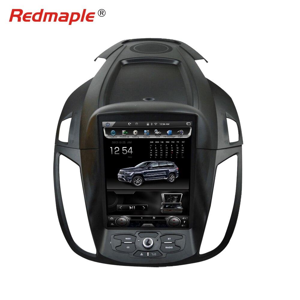 10.4 Écran Vertical Android6.0 Voiture Radio GPS Lecteur Multimédia Pour Ford Kuga 2013 2014 2015 2016 Auto Navigation Stéréo 2 GRAM
