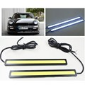 2 Unids/lote 12 V LED COB Car Auto DRL que Conduce Luces de Circulación Diurna Impermeable Externa Led Antiniebla Luces de Iluminación Del Panel Car-Styling