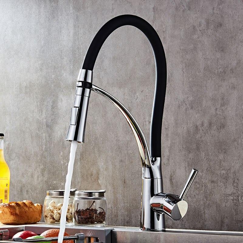 LED Küche Wasserhahn Deck Montiert Sink Wasserhahn Mixer Einhand ...