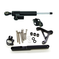 FXCNC Aluminum Adjustable Motorcycles Steering Stabilize Damper Bracket Mount Kit For HONDA CB1000R 2008 2016 09