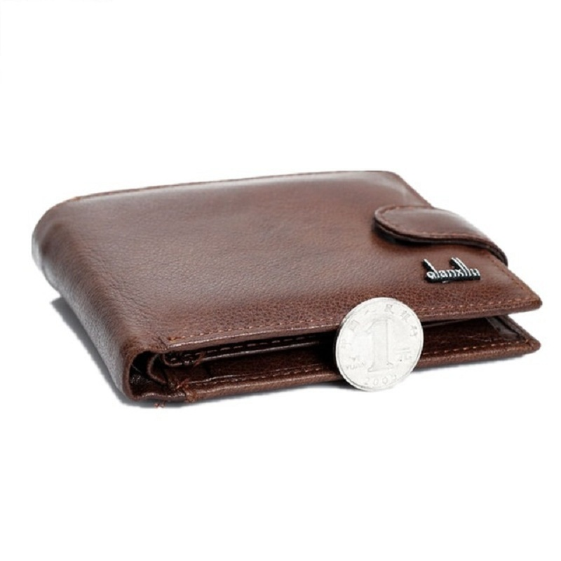 wallet men 100% genuine leather wallets men real leather purse with coin pocket trifold wallet male clutch purse zipper TOP sendefn fashion vintage women wallets short design split leather trifold purse wallet with zipper coin pocket