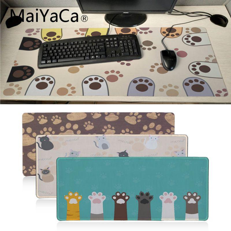 MaiYaCa Nouveau Design Mignon Chats patte motif gamer jeu tapis de Souris Grand Gaming Mouse Pad Lockedge Tapis de Souris Clavier Pad
