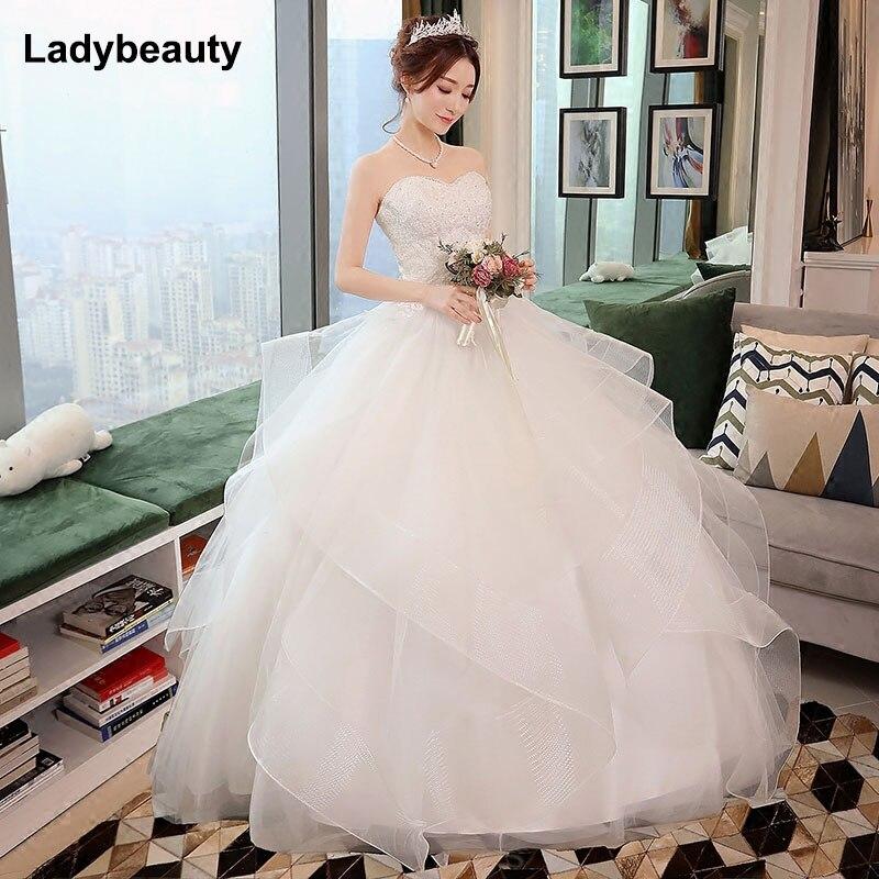 Naujos elegantiškos princesės vestuvių suknelės 2018 m. Saldus - Vestuvių suknelės