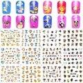 12 hojas mixta diseño decoraciones del arte del clavo de transferencia de agua pegatinas animal lindo tatuajes belleza herramientas de manicura 1249