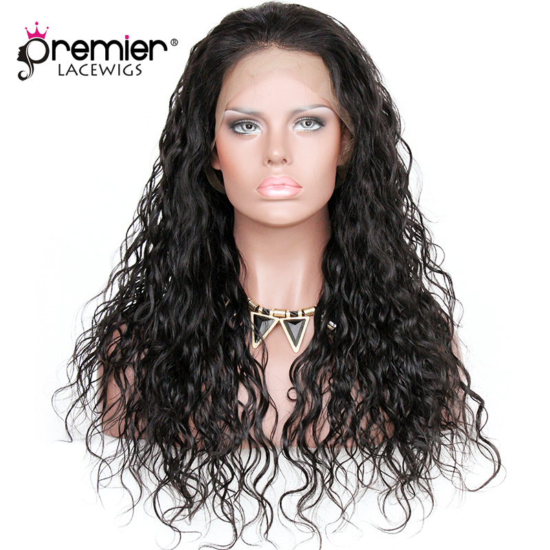 PREMIER LACE WIGS 360 Lace Wigs Loose Curly Indian Remy Human Hair,150% Thick Density,Pre-Plucked Hairline [360LW06]