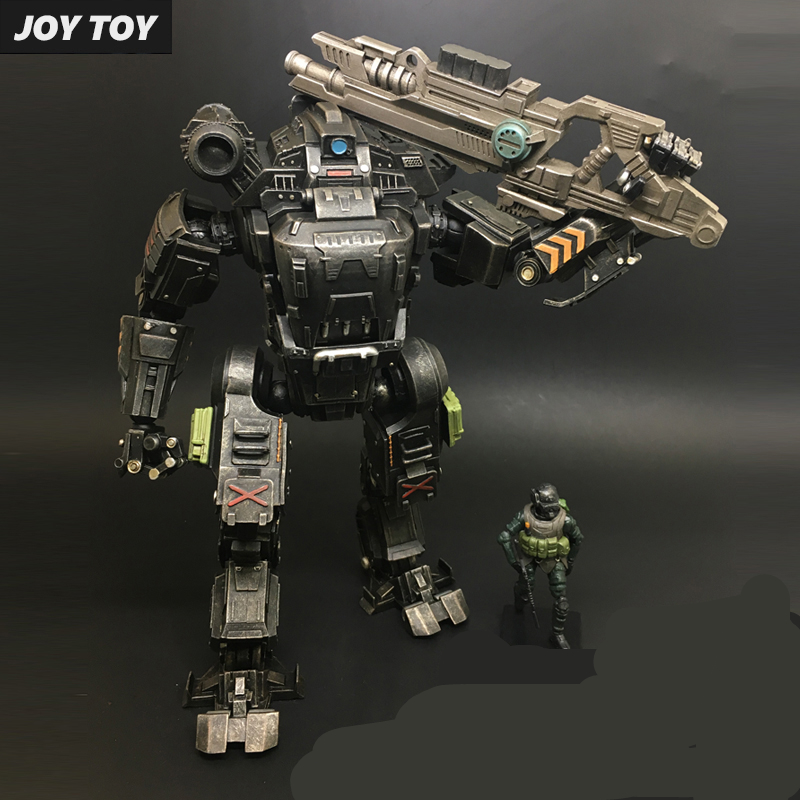 Free Shipping JOY TOY 1:27 Action figures robot the 2rd generation UNF Black ZEUS MECHA birthday present robot toy RE002 free shipping genuine joy toy 1 27 action figure robot military soldier set a birthday present simple packaging