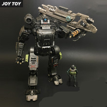 Free Shipping JOY TOY 1:27 Action figures robot the 2rd generation UNF Black ZEUS MECHA birthday present robot toy RE002(China)