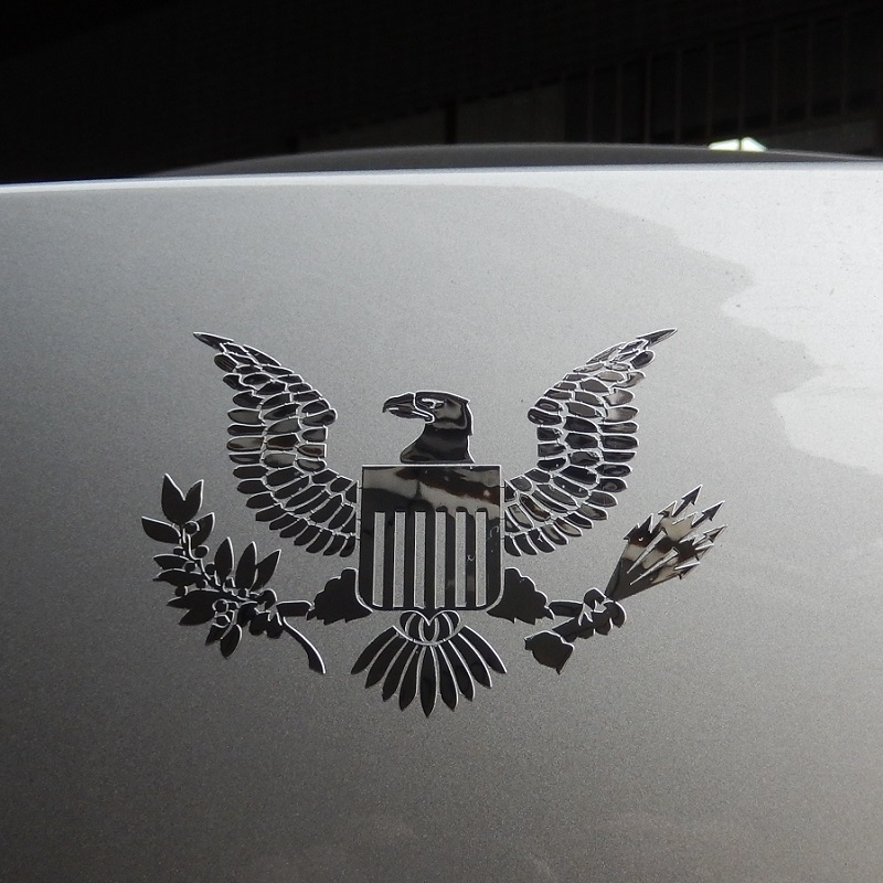 US $5 2 |coat of arms of the United States Great Seal of the United States  USA car body metal sticker American Eagle Decal Decoration-in Car Stickers