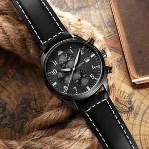 Image 3 - OCHSTIN nowe zegarki sportowe moda męska w stylu Casual markowa chronograf luksusowa wodoodporna świetlista skóra pasek zegar kwarcowy zegarek na rękę