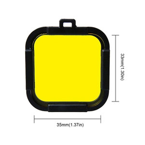 Image 2 - Waterproof Dive Filter 4 Color Diving Filter Red Purple Yellow Gray Lens Cap Lens Protector for Gopro Hero 4 Session 5 Session