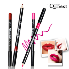 Qibest New Top Fashion Cosmetic Lip Liner Lipliner Pen Pencil Fashion Makeup Waterproof Easy to draw a delicate thin line MY273