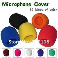On stage microfono parabrezza schiuma copertura audio schiuma ad alta densità microfono parabrezza trasporto libero di colore 10 pz lotto
